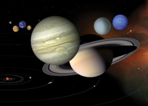 Composite image of planets in our solar system