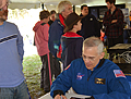 astronaut lee morin signing pictures